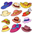 woman hat fashion set vector image