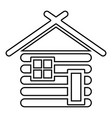 wooden house barn with wood modular log cabins vector image