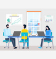 working space for office workers woman and man vector image vector image