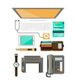 workplace concept flat design vector image vector image