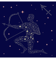 Zodiac sign Sagittarius on the starry sky vector image vector image