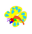 butterfly silhouette set red set the party vector image