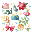 christmas holiday elements vector image