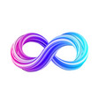 3d infinity symbol colorful infinity icon