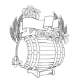 A barrel mug wheat hops vector | Price: 1 Credit (USD $1)