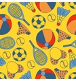 Abstract seamless pattern with hand drawn summer vector image vector image