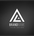 al la l a letter logo design geometric triangle vector image vector image