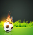 artistic background of football vector image