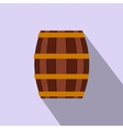 Barrel with honey flat icon vector image vector image