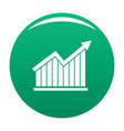 best graph icon green vector image vector image