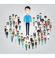 big business man standing in the crowd vector image vector image