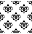 Black and white repeat floral arabesque pattern vector image vector image