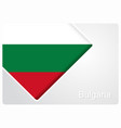 bulgarian flag design background vector image vector image
