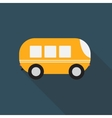 Bus Flat Icon with Long Shadow vector image