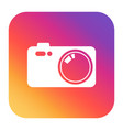 camera icon on gradient background flat vector image vector image