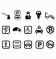 car parking icons vector image vector image