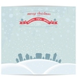 Christmas card with town and vintage lettering des vector image vector image