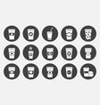 coffee paper cup icons set vector image vector image