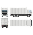 container truck template side front back top vector image