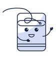 dental floss kawaii character vector image