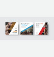 design white square web banners for social media vector image