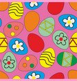 easter eggs pattern seamless vector image