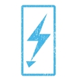 Electric Strike Icon Rubber Stamp vector image