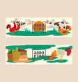 farm products set banners vector image