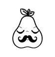 figure kawaii nice sleeping pear icon vector image vector image