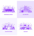 flat line purple designed concepts 10 vector image vector image