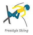 freestyle skiing icon isometric style vector image