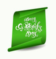greeting card design with creative text happy st vector image vector image