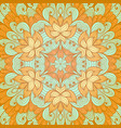 hand drawn ethnic orange and blue greeting card vector image vector image