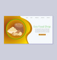 healthy eco food shop vegetarian lifestyle blog vector image
