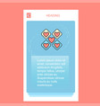 hearts blocks mobile vertical banner design design vector image