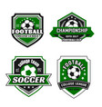 icons for soccer college team championship vector image vector image