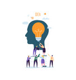 idea with light bulb and business people character vector image vector image