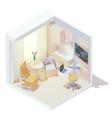 isometric doctors office vector image