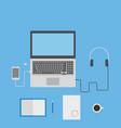 laptop smartphone headphones notebook and vector image vector image