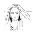 logo of women long hair style icon illistration vector image