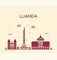luanda skyline angola city linear style vector image vector image