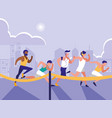 male athletics race avatar character vector image