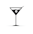 martini with olive vector image vector image