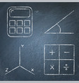 mathematics science icons set in line style on vector image