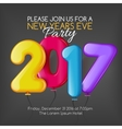 Merry Christmas and Happy New Year 2017 party vector image vector image