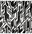 monochrome space geometric pattern with grunge vector image
