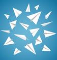 Paper Planes Set vector image vector image