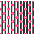 pattern with red lips and black stripes vector image vector image