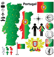 Portugal map vector image vector image