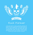 rock forever colorful poster vector image vector image